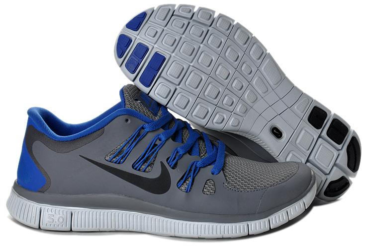 best service c88bd 7b456 2013 Nike Free 5.0 V2 Gray Blue Mens shoes