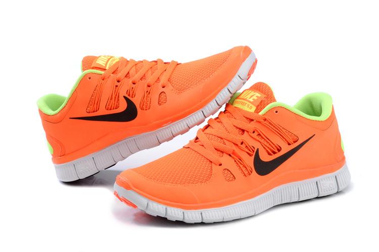 f1a03e7bdb209 2013 Nike Free 5.0 V2 Orange Womens shoes