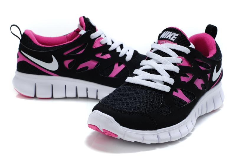 huge selection of e057c ca2ec 2013 Nike Free Run 2 New Womens Black Pink Shoes