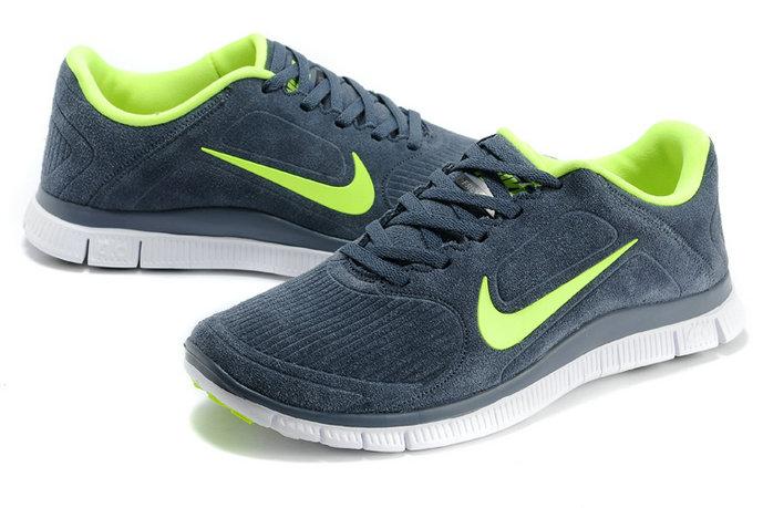 buy popular cb06b 1d06f New Nike Free 4.0 V3 Deep Dark Green Lover Shoes