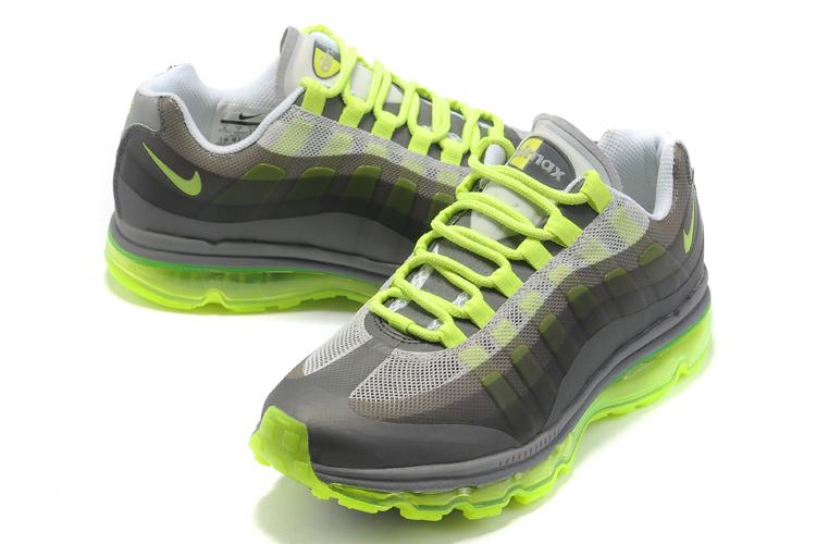 sports shoes 2fe49 0fff3 Nike Air Max 95 360 Mens New Green Gray