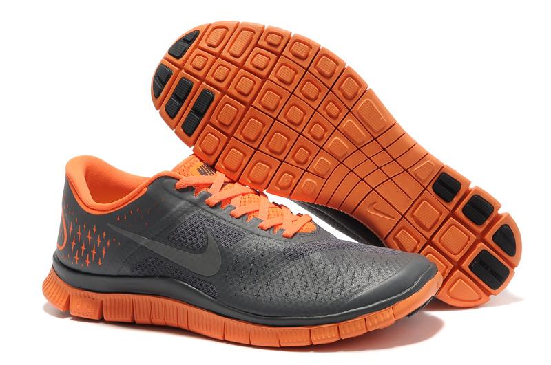 feae6ffd810b Nike Free 4.0 V2 Dark Grey Reflect Silver Total Orange Mens
