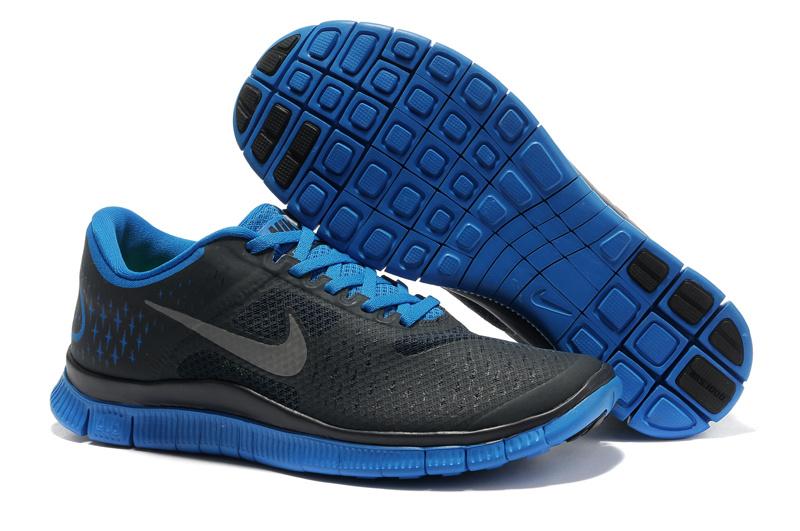 7734e57df1c0 Nike Free 4.0 V2 Dark Obsidian Reflect Silver Soar Blue Mens