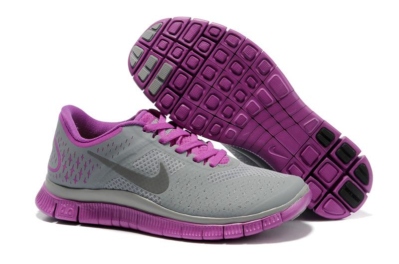 hot sale online 77e5d 64680 Nike Free 4.0 V2 Grey Black Purple Womens