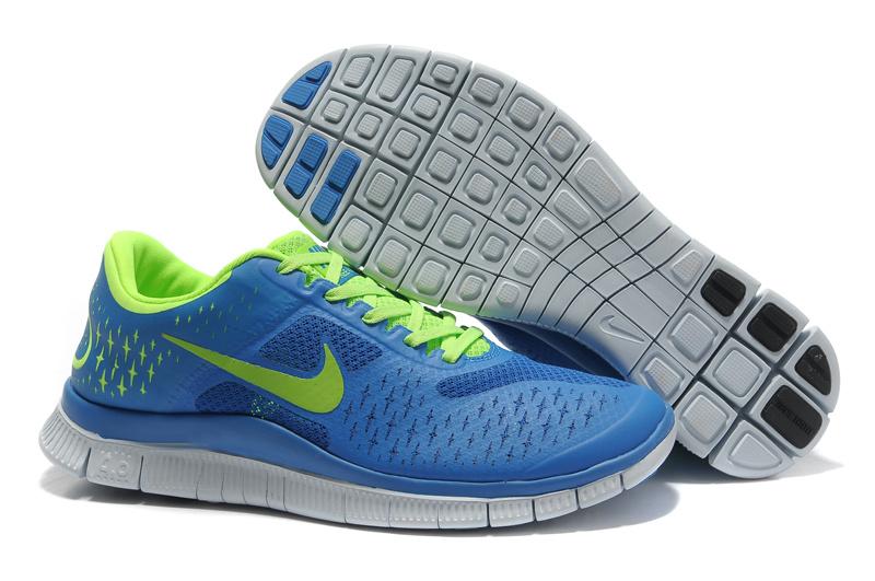 premium selection c91f8 91fcb Nike Free 4.0 V2 Royal Blue Volt Shoes Mens